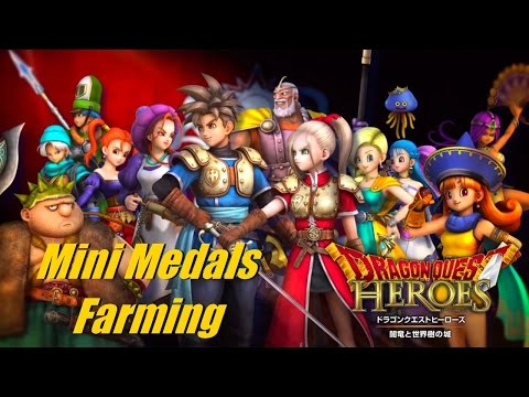 Dragon Quest Heroes - Mini Medals Farming Tutorial (Also XP and Gold)