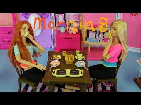 Go Go Good Morning Barbie Doll Breakfast Video For Children Youtube