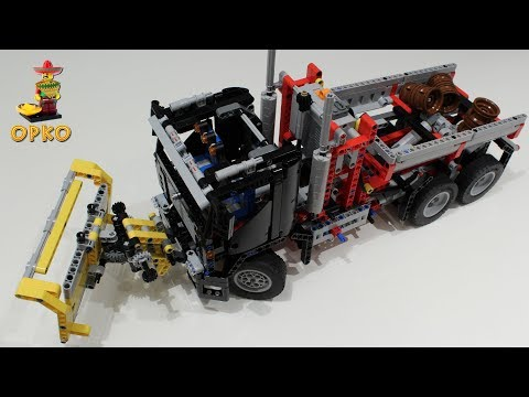Lego Technic 9397 B Model Container Truck With Snowplow