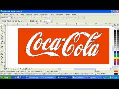 Vectorizar logo de coca cola en corel draw x3.avi