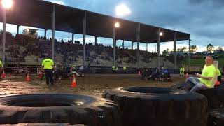 Westmoreland country fairgrounds lawnmower demolition derby