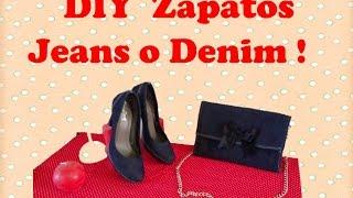 """DIY Como Forrar Zapatos con tela Jeans, Denim """"Customizar, Renovar, Reciclar, Cambiar, Decorar&"""