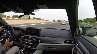 BMW M5 2018 on board hot lap in Estoril