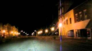 Driving Through Downtown Cairo, IL at Night