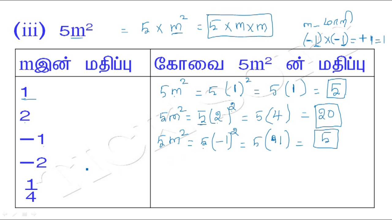 8th Class Maths | Tamil medium | 2 term