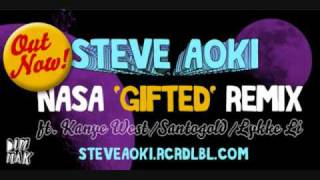 Download N.A.S.A.- Gifted  feat. Kanye West, Santogold & Lykke Li (Steve Aoki Remix) MP3 song and Music Video