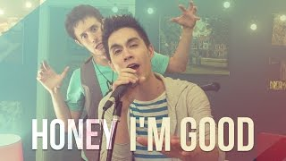 Repeat youtube video Honey I'm Good - Andy Grammer - ONE TAKE!! Sam Tsui & KHS Cover