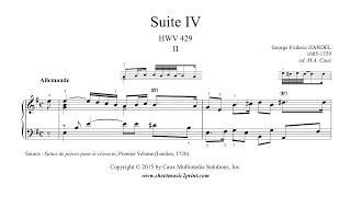Handel : Suite No. 4, HWV 429 (II : Allemande)