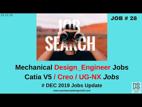 Job Update - 28 L Mechanical Design Engineer Job I Catia V5 \ Creo \ UG NX Jobs I Project Lead Jobs