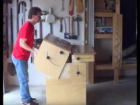 Fun with Robotics - Garage shop organization, building a tilting wood working router table - EP 9