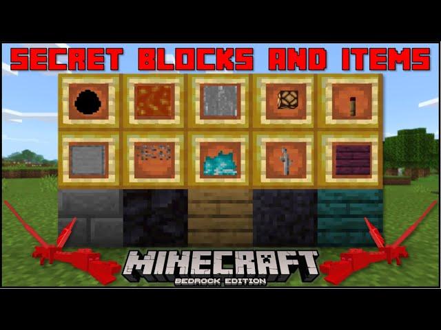Minecraft Bedrock Even More Secret Blocks Items Mobile Xbox Ps4 Windows 10 Switch Youtube