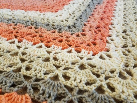 "The ""Cloister Shell Shawl"" Crochet Tutorial"