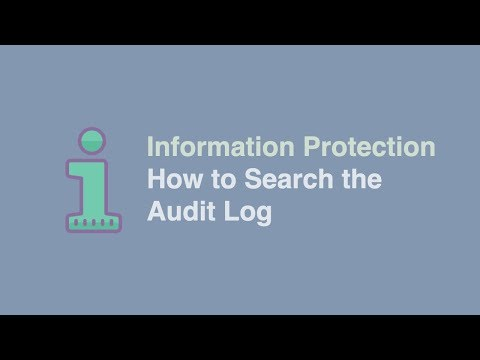 How To Search The Audit Log