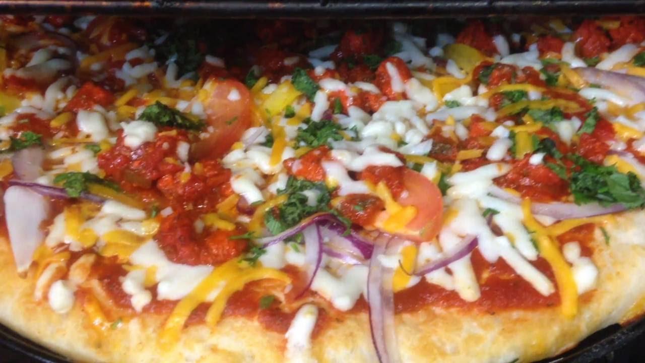 Homemade Chicken Tikka pizza |Tandoori Style| |Halal| step by step  Nazkitchenfun