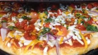 Homemade Chicken Tikka pizza Tandoori Style Halal step by step Nazkitchenfun