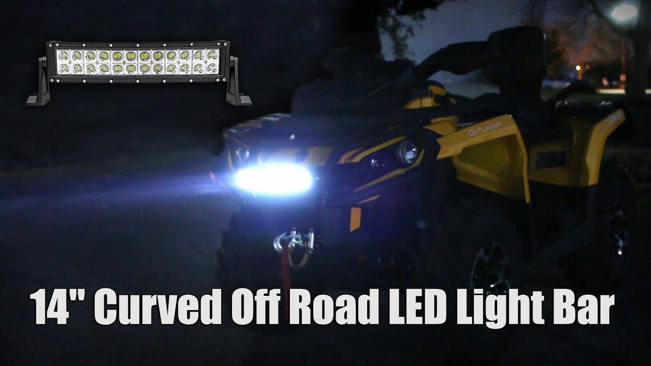 Curved off road led light bar 14 youtube curved off road led light bar 14 aloadofball Gallery