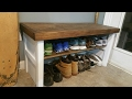 Making a Reclaimed Bench-Shoe Rack