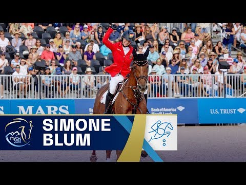 Simone Blum becomes FIRST ever female World Jumping Champion at FEI World Equestrian Games 2018