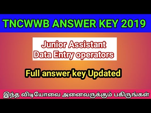 TN Labour DEO Answer Key 2019