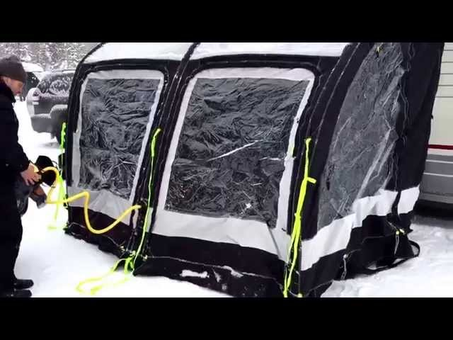 Nordkapp  Vintertur 2015 - Video 26 - Kampa lufttelt