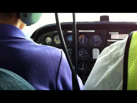 Cessna 172, First Landing at Seletar Airport