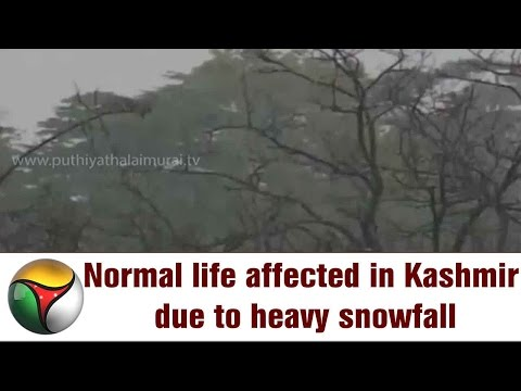 Normal life affected in Kashmir due to heavy snowfall