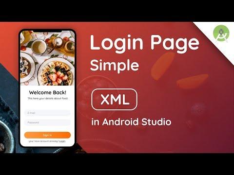 Login Screen Modern Design In Android Studio   Speed Code   Tutorial   Material Design