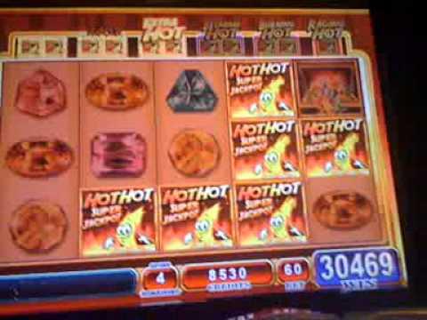 Hot Hot SUPER JACKPOT slot machine WIN - YouTube