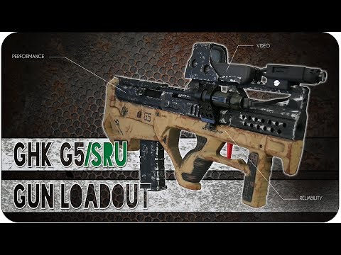 Airsoft Loadout ENG - GHK G5 with SRU Bullpup kit GBBR Gun Loadout 360° Full Setup 2017
