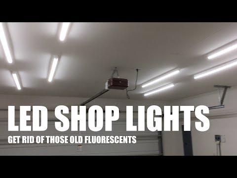 Upgrade your garage workshop lighting to LEDs for better YouTube videos