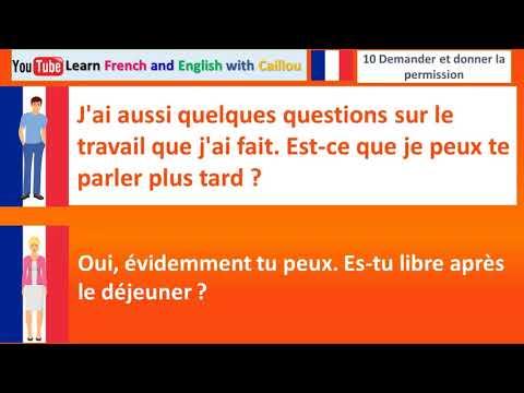 dialogue en francais 10 demander et donner la permission