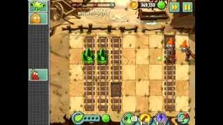 Plants vs. Zombies 2 - Wild Wild West - Day 8 (Gargantuar) [PvZ 2 Walkthrough]