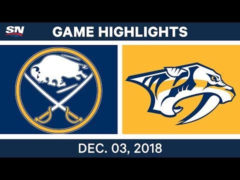 NHL Highlights | Sabres vs. Predators - Dec 3, 2018
