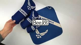 U.S. Air Force golf club head covers and microfiber golf towel