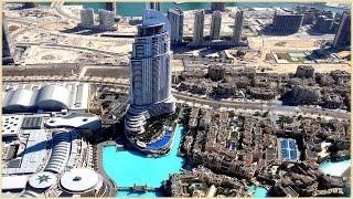 DUBAI, BURJ KHALIFA 828m, Blick vom höchsten Gebäude