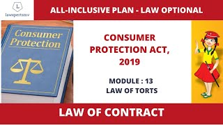 UPSC Law Optional 2021 : Law of Torts : Consumer Protection Act