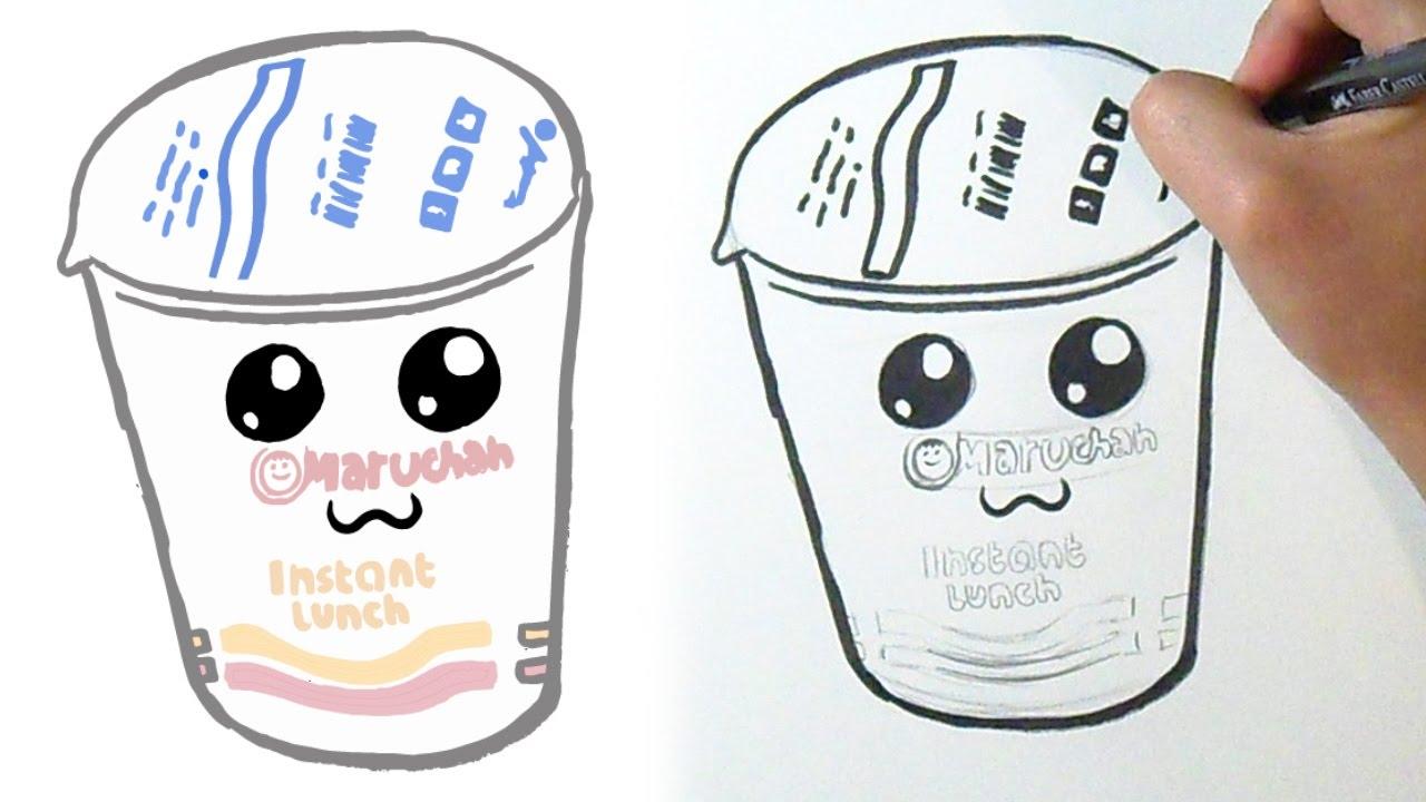 Como Dibujar Sopa Maruchan Kawaii Youtube