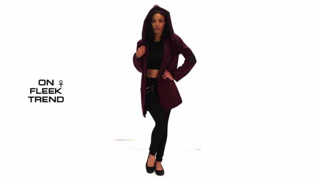 Leather jacket boohoo - Wine Hooded Biker Coat 13 95 Faux Leather Biker Jacket Women Zara Boohoo River Island