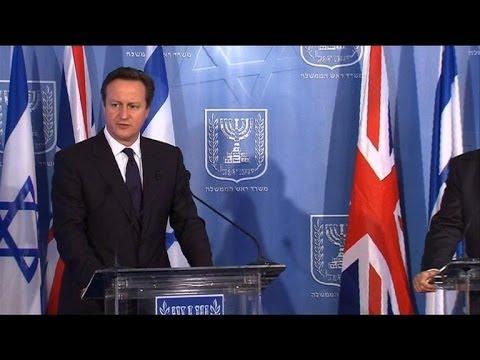 Netanyahu and Cameron condemn rocket attacks from Gaza