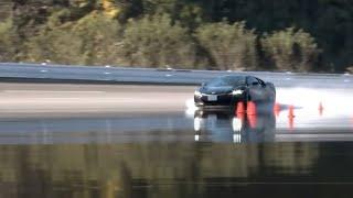 ホンダNSX vs 日産GT-Rピュアエディション(ウェット旋回ブレーキ編)【DST#104-05】