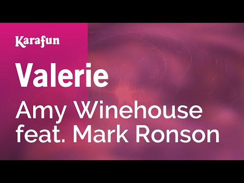 Karaoke Valerie - Amy Winehouse *