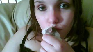 My Baby Rat enjoying some much loved kisses
