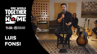 """Luis Fonsi Performs  """"Despacito""""   One World: Together At Home"""