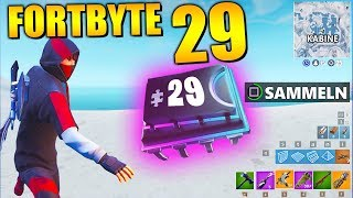 Fortnite Fortbyte 29 🎄 Tree TopCracker | All Fortbyte Places Season 9 Utopia Skin English
