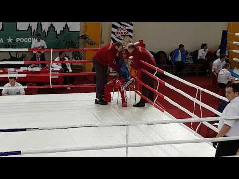Чемпионат России по кикбоксингу. Мхитарян Арарат - Рахимов Артем 54 кг.  Финал