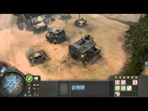 Company of Heroes - Allied (America) Armor Company Gameplay VS Expert A.I.