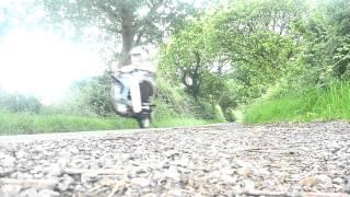 honda c90 with z155 pit bike race engine