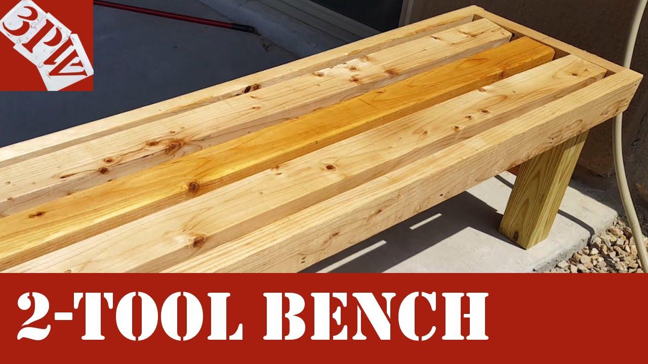 two tool backyard bench youtube