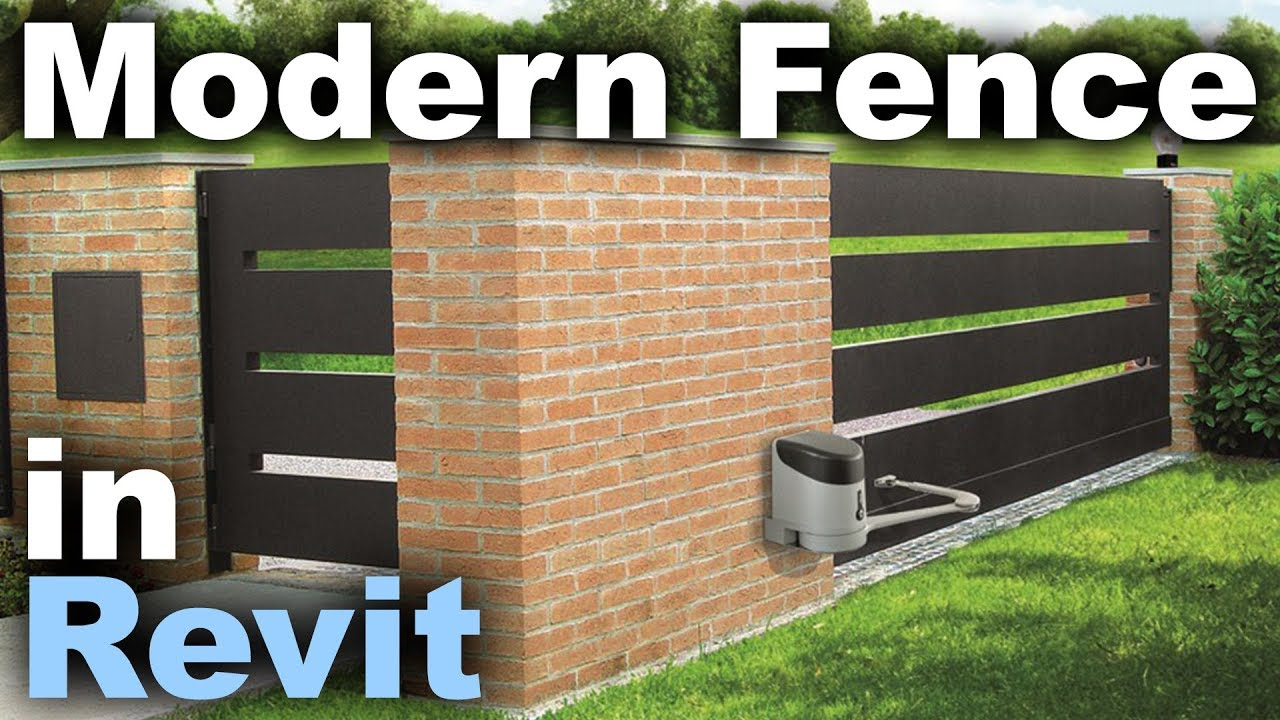 Repeat Modern Fence in Revit Tutorial by Balkan Architect - You2Repeat