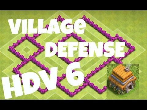 VILLAGE DEFENSE HDV 6 (1) : Le Rushime !! - Clash of Clans